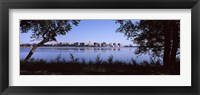 Framed Lake Monona and Madison, Wisconsin Through the Trees