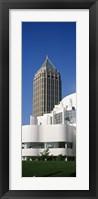 Framed Art museum in front of a skyscraper, High Museum Of Art, Atlanta, Fulton County, Georgia, USA