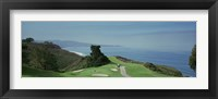 Framed Golf course at the coast, Torrey Pines Golf Course, San Diego, California, USA