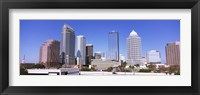 Framed Skyscraper in a city, Tampa, Hillsborough County, Florida, USA