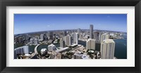 Framed Aerial View of Miami, Florida, 2008