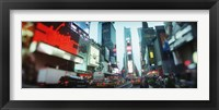 Framed Buildings lit up at dusk, Times Square, Manhattan, New York City, New York State, USA