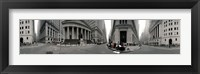 Framed 360 degree view of buildings, Wall Street, Manhattan, New York City, New York State, USA