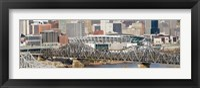 Framed Bridge across a river, Paul Brown Stadium, Cincinnati, Hamilton County, Ohio, USA