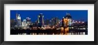 Framed Cincinnati, Ohio at Night