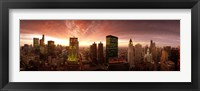 Framed Sunset cityscape Chicago IL USA