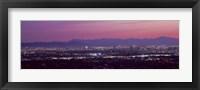 Framed Cityscape at sunset, Phoenix, Maricopa County, Arizona, USA 2010