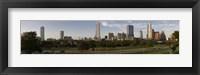 Framed Austin skyline, Travis County, Texas
