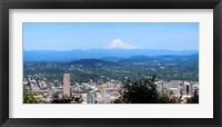 Framed High angle view of a city, Mt Hood, Portland, Oregon, USA 2010