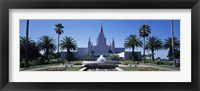 Framed Formal garden in front of a temple, Oakland Temple, Oakland, Alameda County, California