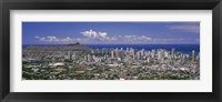 Framed View of a city, Honolulu, Oahu, Honolulu County, Hawaii, USA 2010