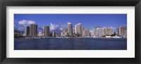 Framed Honolulu skyline, Hawaii