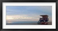 Framed Lifeguard on the beach, Miami, Miami-Dade County, Florida, USA