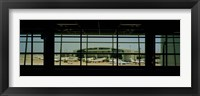 Framed Airport viewed from inside the terminal, Dallas Fort Worth International Airport, Dallas, Texas, USA
