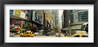 Framed 42nd Street, Eighth Avenue, Times Square, Manhattan, New York