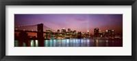 Framed Skyscrapers lit up at night, World Trade Center, Lower Manhattan, Manhattan, New York City, New York State, USA