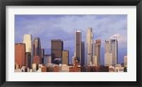 Framed Los Angeles skyline, Los Angeles County, California, USA