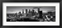 Framed Atlanta skyline in black and white, Georgia, USA