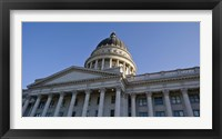 Framed Low angle view of the Utah State Capitol Building, Salt Lake City, Utah