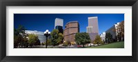 Framed Buildings in a city, Downtown Denver, Denver, Colorado, USA 2011