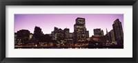 Framed San Francisco Waterfront Lit Up at Dusk, California, USA