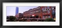 Framed Bricktown Mercantile building along the Bricktown Canal with Devon Tower in background, Bricktown, Oklahoma City, Oklahoma