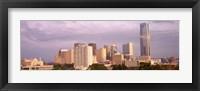 Framed Downtown skyline, Oklahoma City, Oklahoma