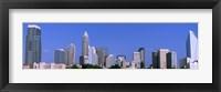 Framed City skyline, Charlotte, Mecklenburg County, North Carolina, USA