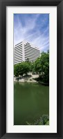 Framed Building at the waterfront, Qwest Building, Omaha, Nebraska, USA