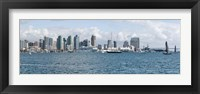 Framed San Diego as seen from the Water