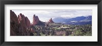 Framed Rock formations on a landscape, Garden of The Gods, Colorado Springs, Colorado