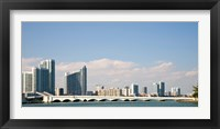 Framed Miami Skyline, Miami, Florida, USA