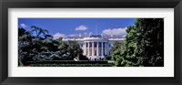 Framed Facade of the government building, White House, Washington DC, USA