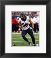 Framed Brian Cushing 2013 Action