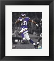 Framed Adrian Peterson 2013 Spotlight Action