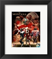 Framed Joe Montana 2013 Portrait Plus