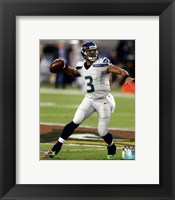 Framed Russell Wilson 2013 Action