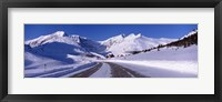 Framed Canada, Alberta, Banff National Park, icefield, road