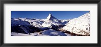 Framed Matterhorn, Zermatt, Switzerland (horizontal)
