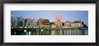 Framed Evening, Cityscape, Zurich, Switzerland