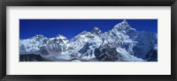 Framed Himalaya Mountains (Mt Everest), Nepal