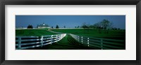 Framed USA, Kentucky, Lexington, horse farm