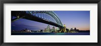 Framed Low angle view of a bridge, Sydney Harbor Bridge, Sydney, New South Wales, Australia