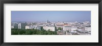 Framed Austria, Vienna, High angle view of the city