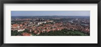 Framed Aerial view of a cityscape, Prague, Czech Republic