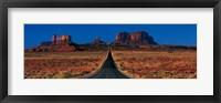 Framed Route 163, Monument Valley Tribal Park, Arizona, USA