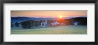 Framed Sunrise Peacham VT USA