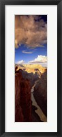 Framed Toroweap Point, Grand Canyon, Arizona (vertical)