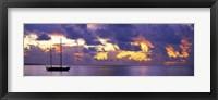 Framed Sunset Moorea French Polynesia