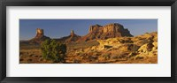 Framed Rock Formations, Monument Valley, Arizona, USA (day, horizontal)